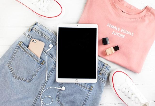 ファッションとタブレット